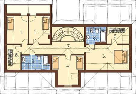 Projekt domu L-6192 - rzut