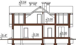 Projekt domu L-6192 - przekrój