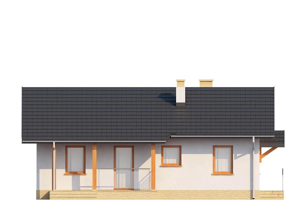 Projekt domu L-6196 - elewacja
