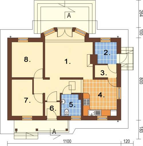 Projekt domu L-6196 - rzut