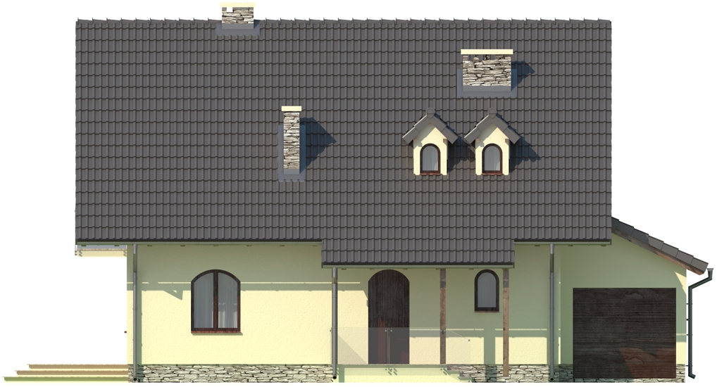 Projekt domu DM-6006 - elewacja