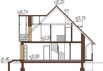 Projekt domu DM-6006 - przekrój