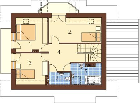 Projekt domu DM-6006 - rzut