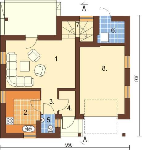 Projekt domu L-6197 - rzut