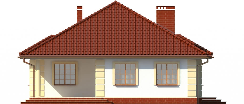Projekt domu L-6209 - elewacja