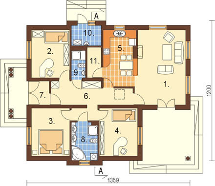Projekt domu L-6209 - rzut