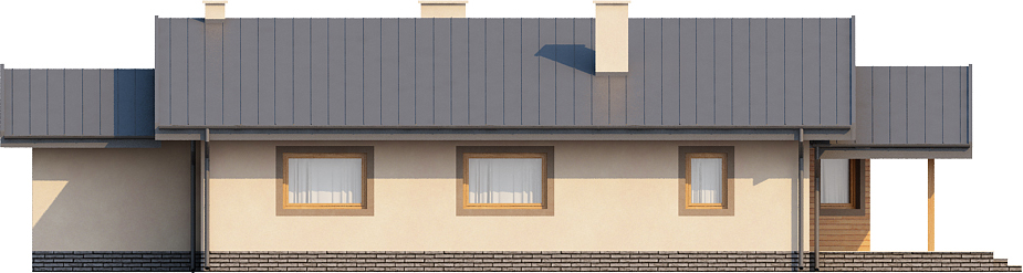 Projekt domu L-6210 - elewacja
