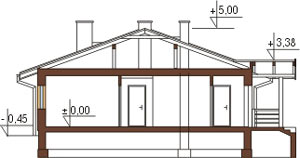 Projekt domu L-6210 - przekrój