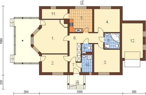 Projekt domu L-6210 - rzut
