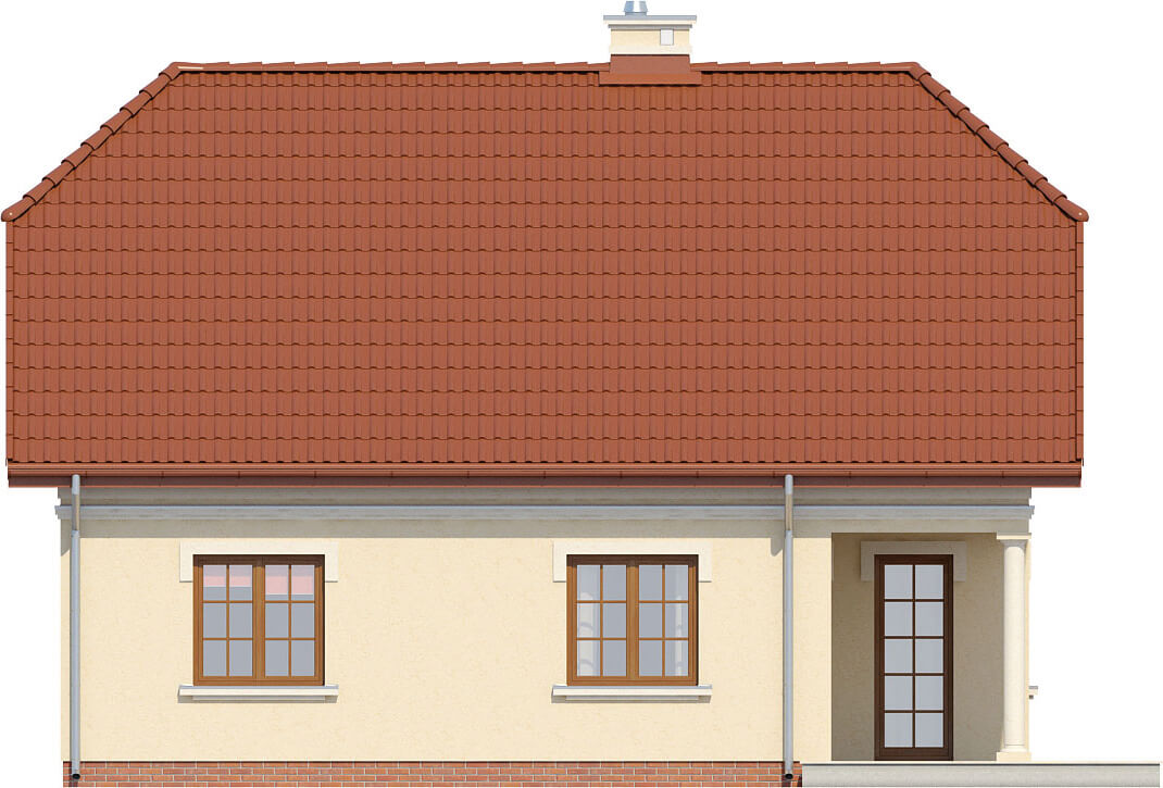 Projekt domu L-6214 - elewacja