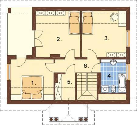 Projekt domu L-6214 - rzut
