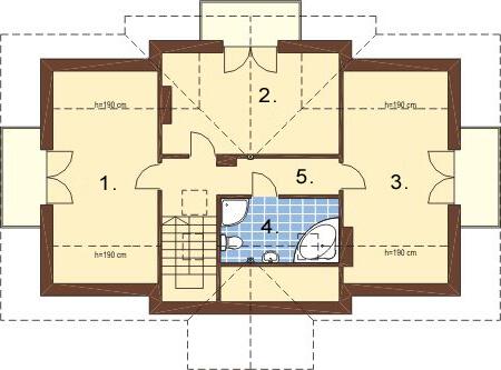 Projekt domu L-6216 - rzut