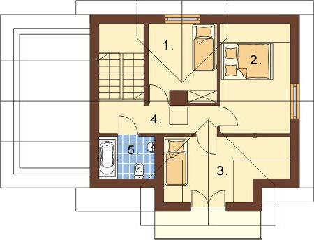 Projekt domu L-6218 - rzut