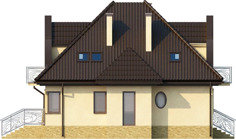 Projekt domu L-6219 - elewacja