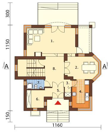 Projekt domu L-6219 - rzut