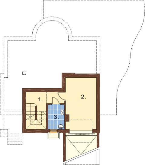 Projekt domu L-6221 - rzut