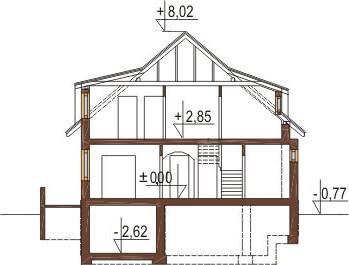 Projekt domu L-6221 - przekrój