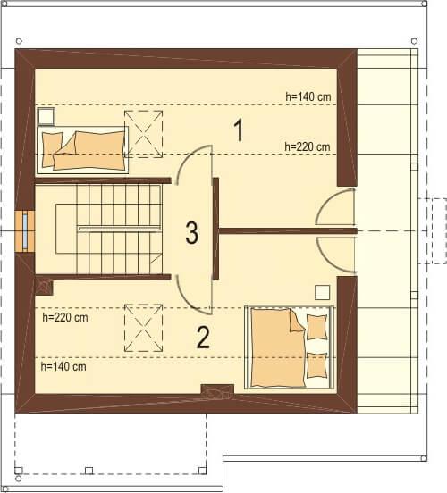 Projekt domu L-6223 - rzut
