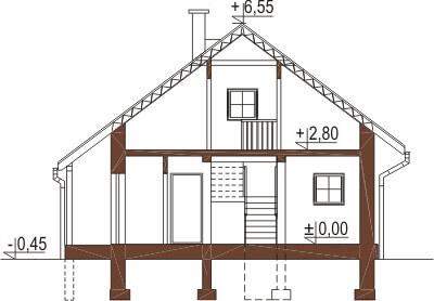 Projekt domu L-6223 - przekrój