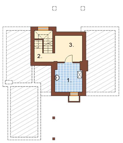 Projekt domu L-6229 - rzut