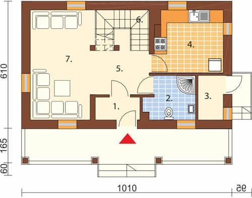 Projekt domu L-6233 - rzut