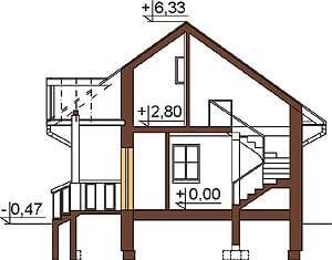 Projekt domu L-6233 - przekrój