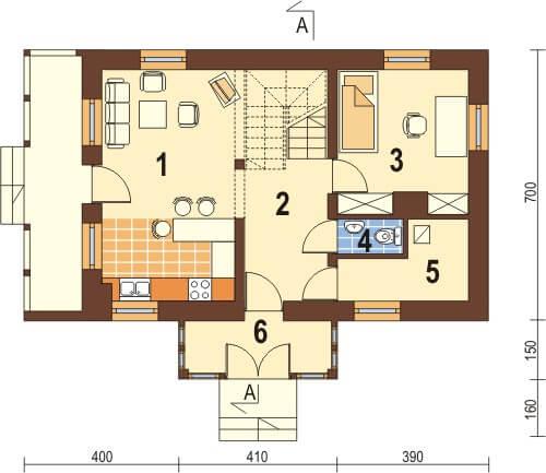 Projekt domu DM-6026 - rzut