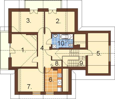Projekt domu L-6236 - rzut