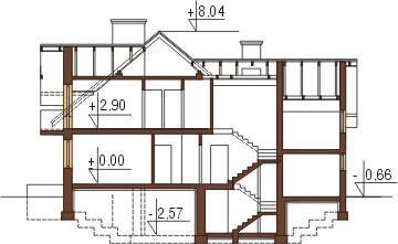Projekt domu L-6236 - przekrój