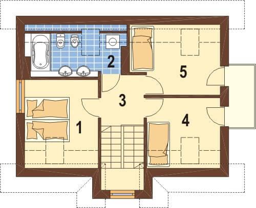 Projekt domu L-6251 - rzut