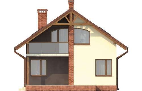Projekt domu L-6254 - elewacja