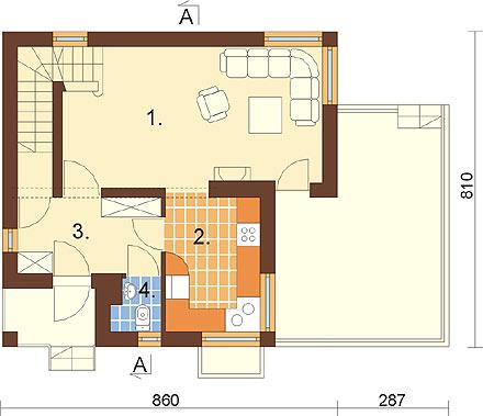 Projekt domu L-6254 - rzut