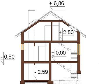 Projekt domu L-6254 - przekrój