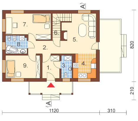 Projekt domu L-6255 - rzut