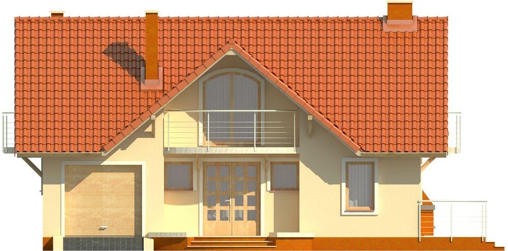 Projekt domu L-6256 - elewacja
