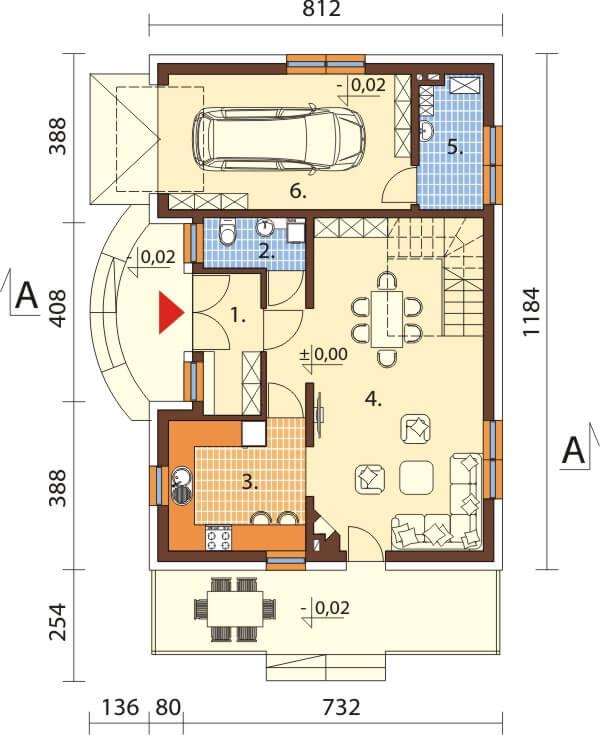 Projekt domu L-6256 - rzut