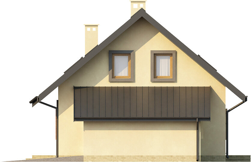 Projekt domu L-6259 - elewacja