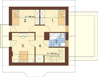 Projekt domu L-6259 - rzut