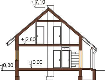 Projekt domu L-6259 - przekrój