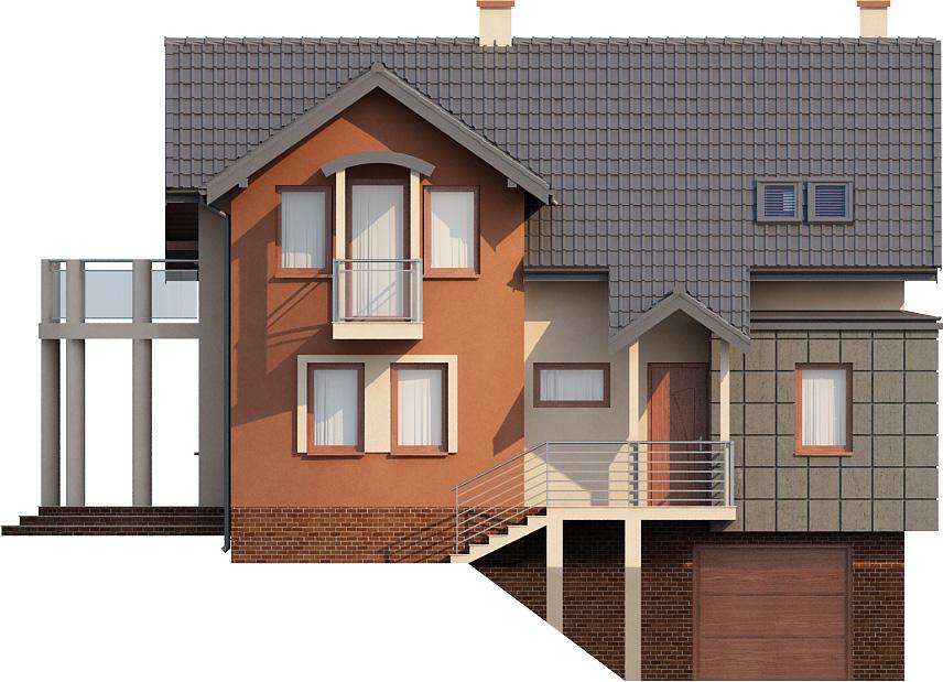 Projekt domu L-6267 - elewacja