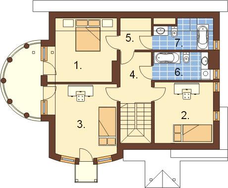 Projekt domu L-6267 - rzut