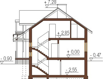 Projekt domu L-6267 - przekrój