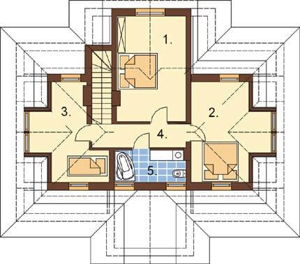 Projekt domu L-6276 - rzut
