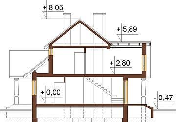 Projekt domu L-6276 - przekrój