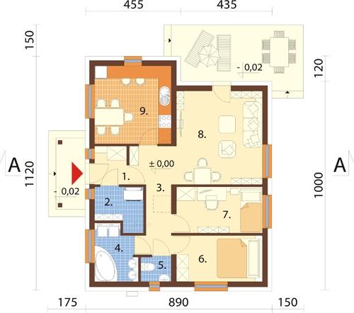 Projekt domu L-6306 - rzut