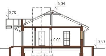 Projekt domu L-6306 - przekrój