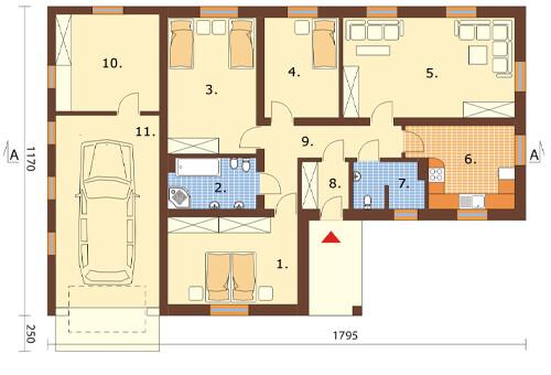 Projekt domu DM-6030 - rzut