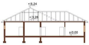 Projekt domu DM-6030 - przekrój