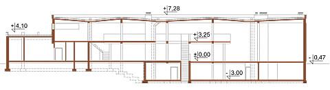 Projekt LK-10 - przekrój