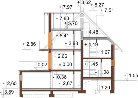 Projekt domu DM-6031 - przekrój